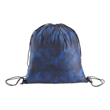 Sac à chaussures sport pliable bleu camouflage