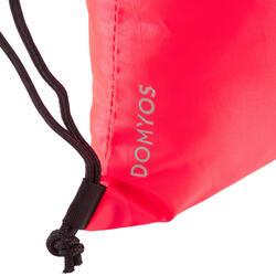 Opvouwbare schoentas voor cardiofitness zalmroze