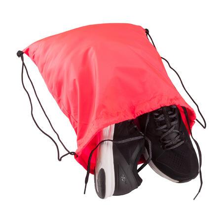 Sac à chaussures entraînement pliable rose corail