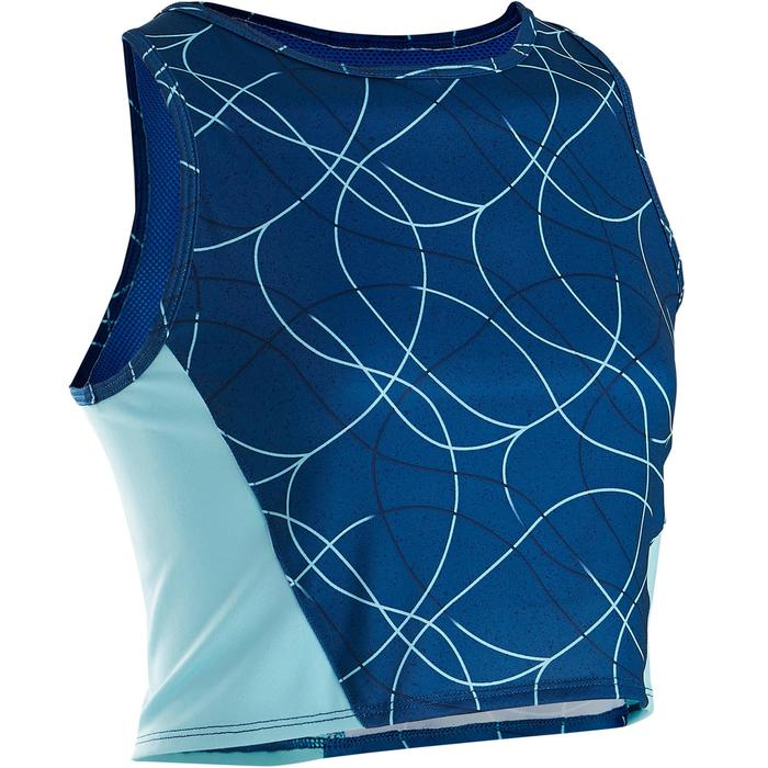 Débardeur court (crop top) respirant S900 fille GYM ENFANT bleu AOP