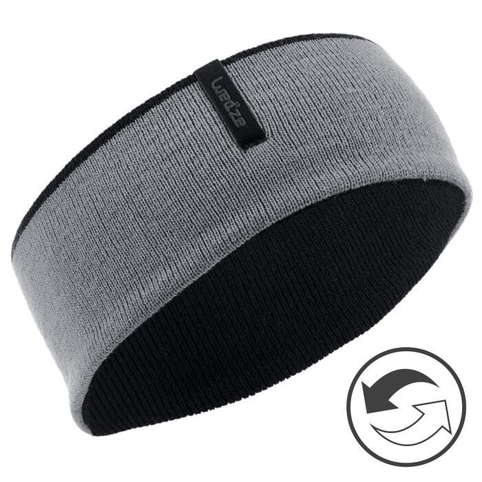 Omkeerbare hoofdband voor kinderen zwart/grijs