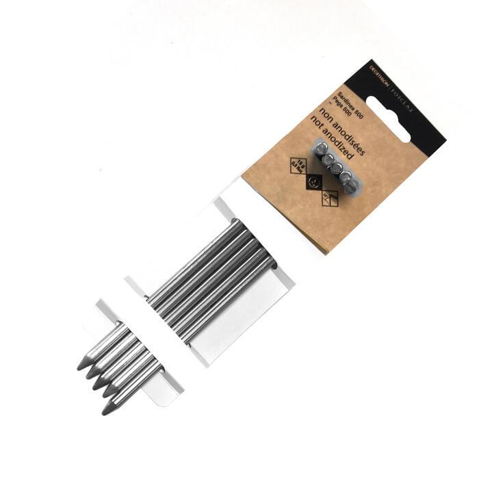 Niet-geanodiseerde aluminium tentharingen 15 g 5 stuks