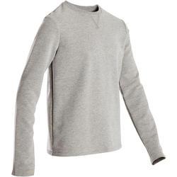 Sweater voor jongens, voor gym 100 lichtgrijs