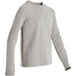 Sweatshirt 100 Gym Kinder hellgrau