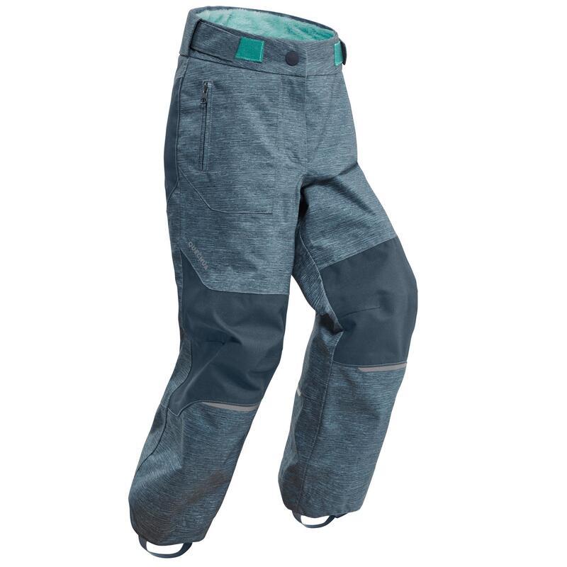 Warme waterdichte broek voor sneeuwwandelen kinderen SH500 U-Warm 2-6 jaar groen