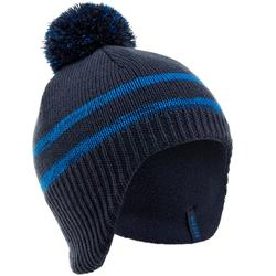 KIDS' FLAP PERUVIAN SKI HAT NAVY BLUE