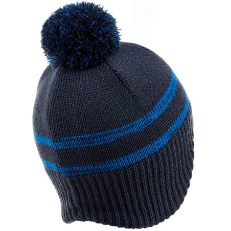 KID FLAP PERUVIAN SKIING HAT - NAVY BLUE