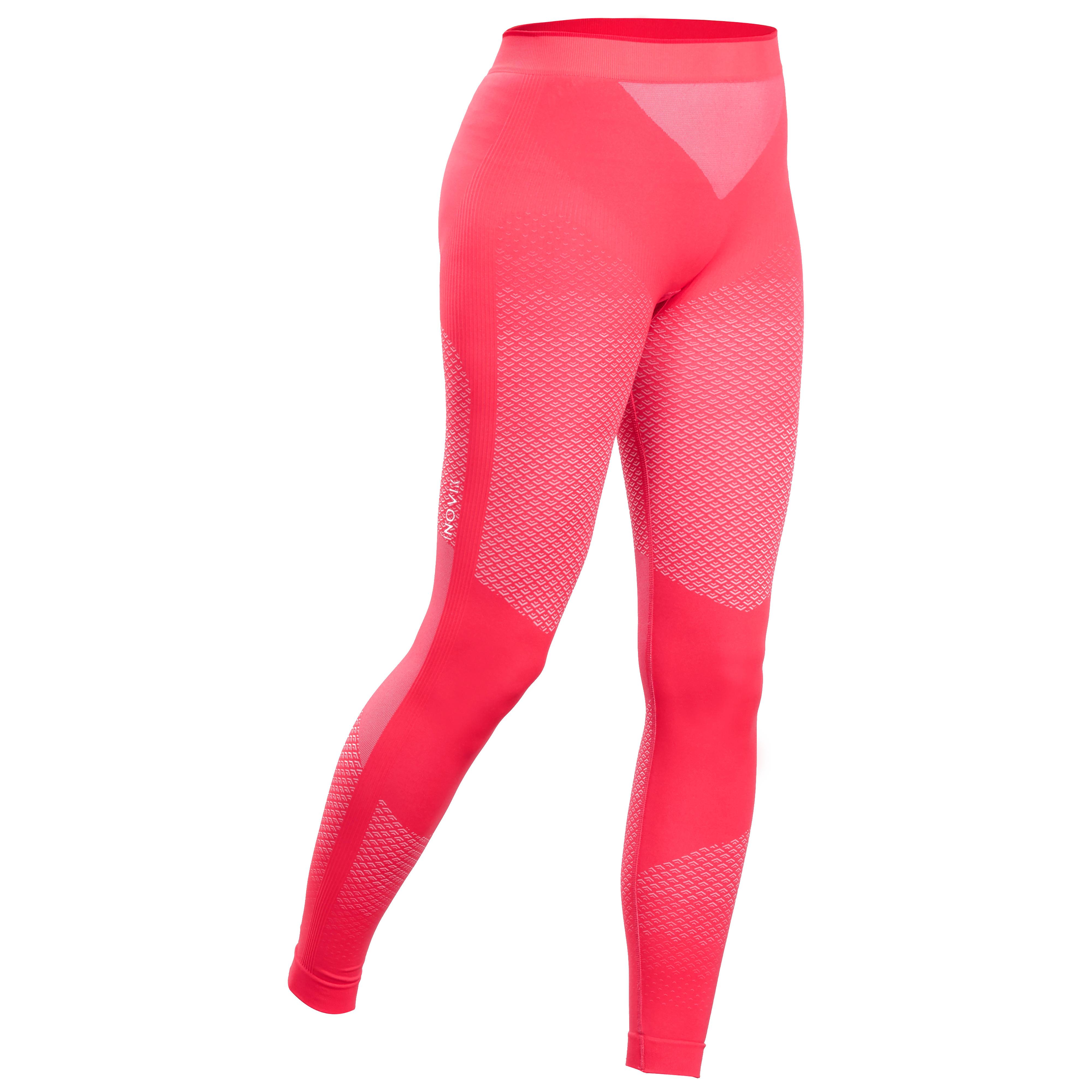Lange Skiunterhose XC S 500 Langlauf Damen rosa | Sportbekleidung > Funktionswäsche > Thermounterwäsche | Inovik