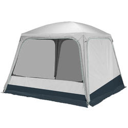 Hoop-supported camping living area - Arpenaz Base Fresh - 10-Person