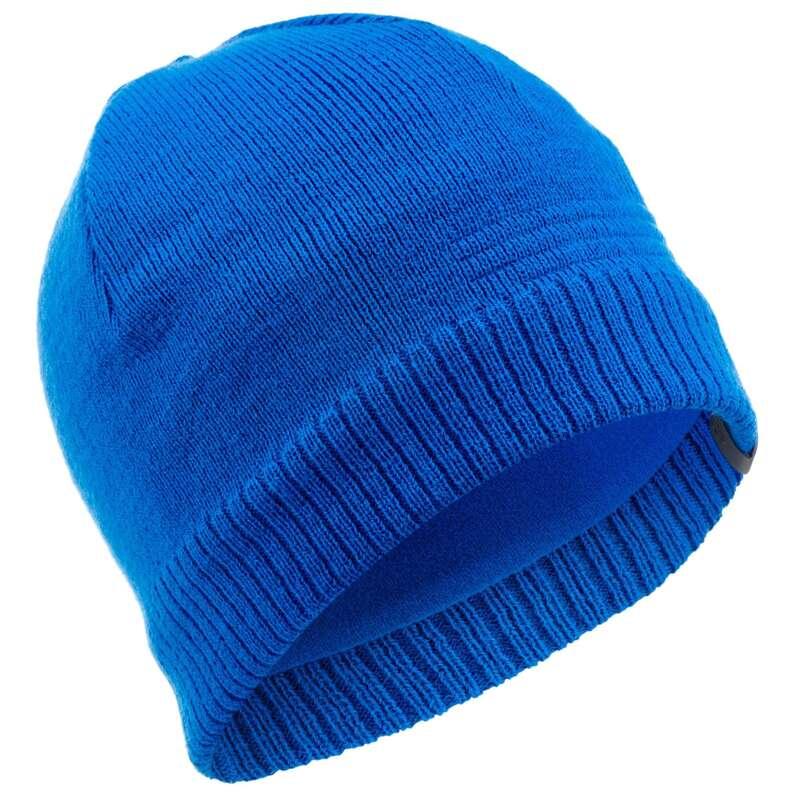 JUNIOR SKI AND SNOWBOARD HEADWEAR Ski Wear - JR PURE HAT - BLUE WEDZE - Ski Wear