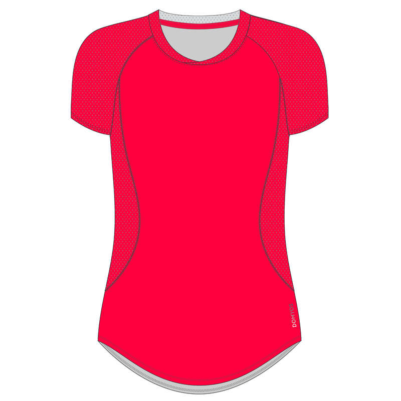 FITNESS CARDIO CONFIRMED WOMAN CLOTHING Fitness and Gym - T-Shirt FTA 500 - Pink DOMYOS - Fitness and Gym