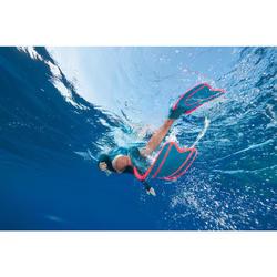 Apnoe-Flossen Freediving FRD100 Erwachsene grau/neonrot