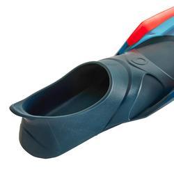 Aletas Buceo Apnea Snorkel Subea FRD100 Adulto Azul Naranja