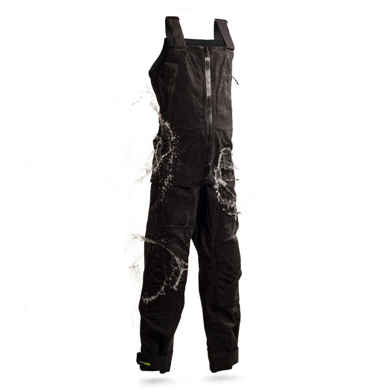 CRUISING RAINY WEATHER MAN CLOTHES Sailing - M OFFSHORE900 Salopettes Black TRIBORD - Sailing Clothing