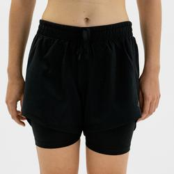 Short de fitness Adidas two-in-one noir femme