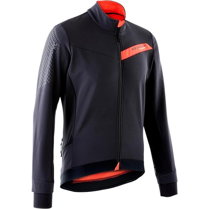 Slim-Fit XC Mountain Bike Jacket - Black/Red
