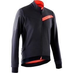 Chaqueta ciclismo invierno MTB hombre Rockrider XC Negro Rojo