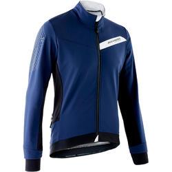 Chaqueta ciclismo invierno MTB hombre Rockrider XC Azul Amarillo