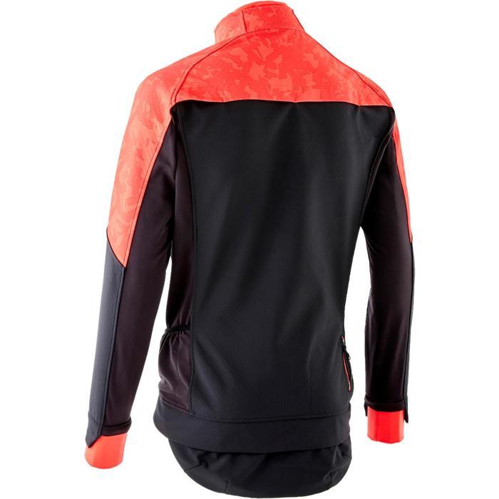 Chaqueta CICLISMO INVIERNO MTB Hombre ROCKRIDER ST 500 negro y rojo