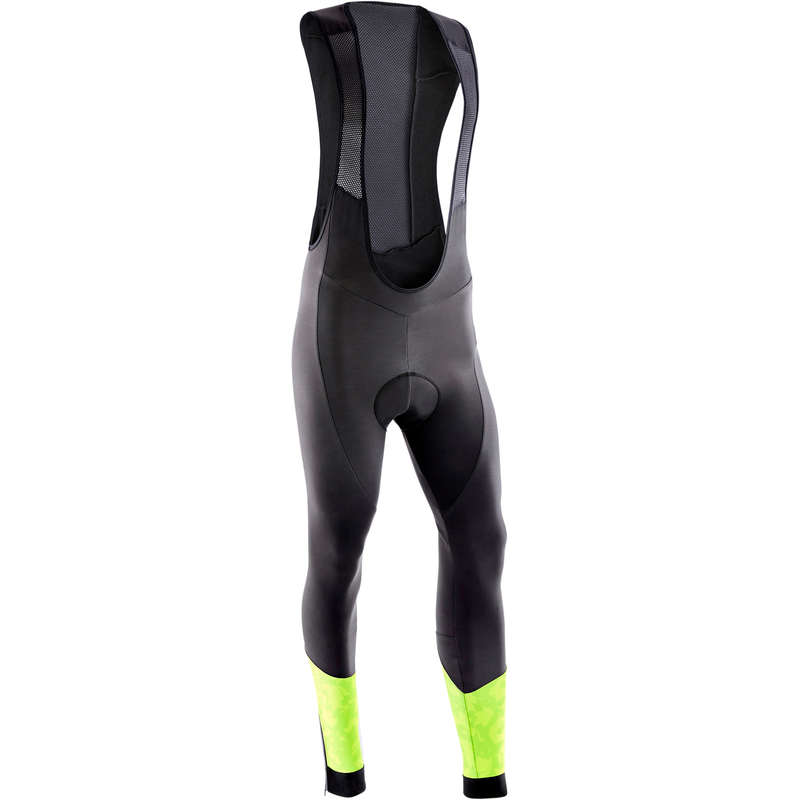 MEN COLD WEATHER ST MTB APPAREL Cycling - Men's Tights ST 500 - Black ROCKRIDER - Cycling