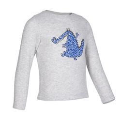 嬰幼兒健身運動衫100 - 鱷魚灰色