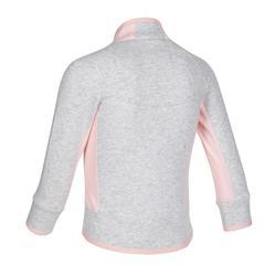 嬰幼兒健身外套500 - 灰色/粉色