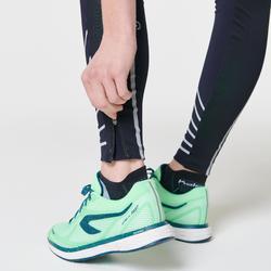 Mallas Largas Leggins Deportivos Running Kalenji Kiprun Warm Mujer Azul Oscuro