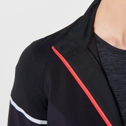 Hardloopshirt met lange mouwen voor dames Warm Regul zwart koraalrood