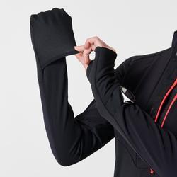 MAILLOT MANCHES LONGUES RUNNING FEMME WARM REGUL NOIR CORAIL