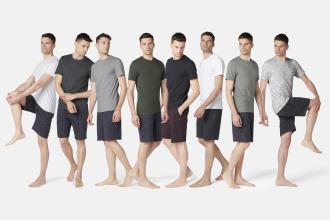 t-shirt de homem em algodão