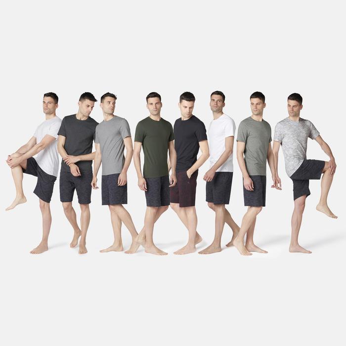 500 Slim-Fit Gentle Gym & Pilates T-Shirt - Dark Mottled Grey
