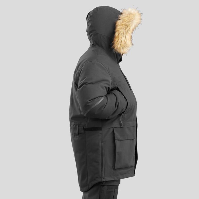 Veste Parka Arctic trekking 500 Unisexe X-Warm Noir