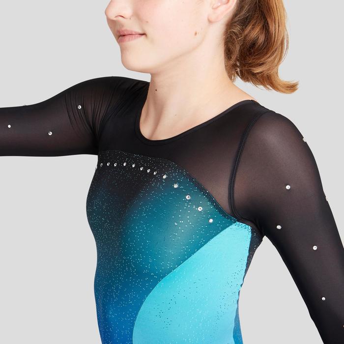 Justaucorps manches longues bleu / turquoise Gymnastique Artistique Féminine 900