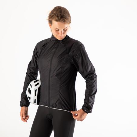 RC500 Women's Waterproof Cycling Jacket - Black