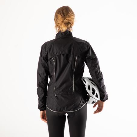 Imperméable de vélo500 noir – Femmes