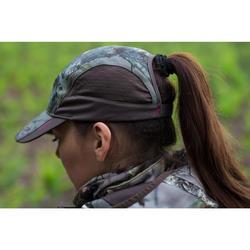 Lichte en ademende camouflagepet voor de jacht dames 500 Kamo-Brown