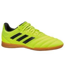 Zaalvoetbalschoenen kind Copa 19.3 indoor sala geel/zwart