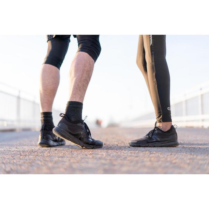 Herensneakers voor sportief wandelen PW 580 WaterResist zwart