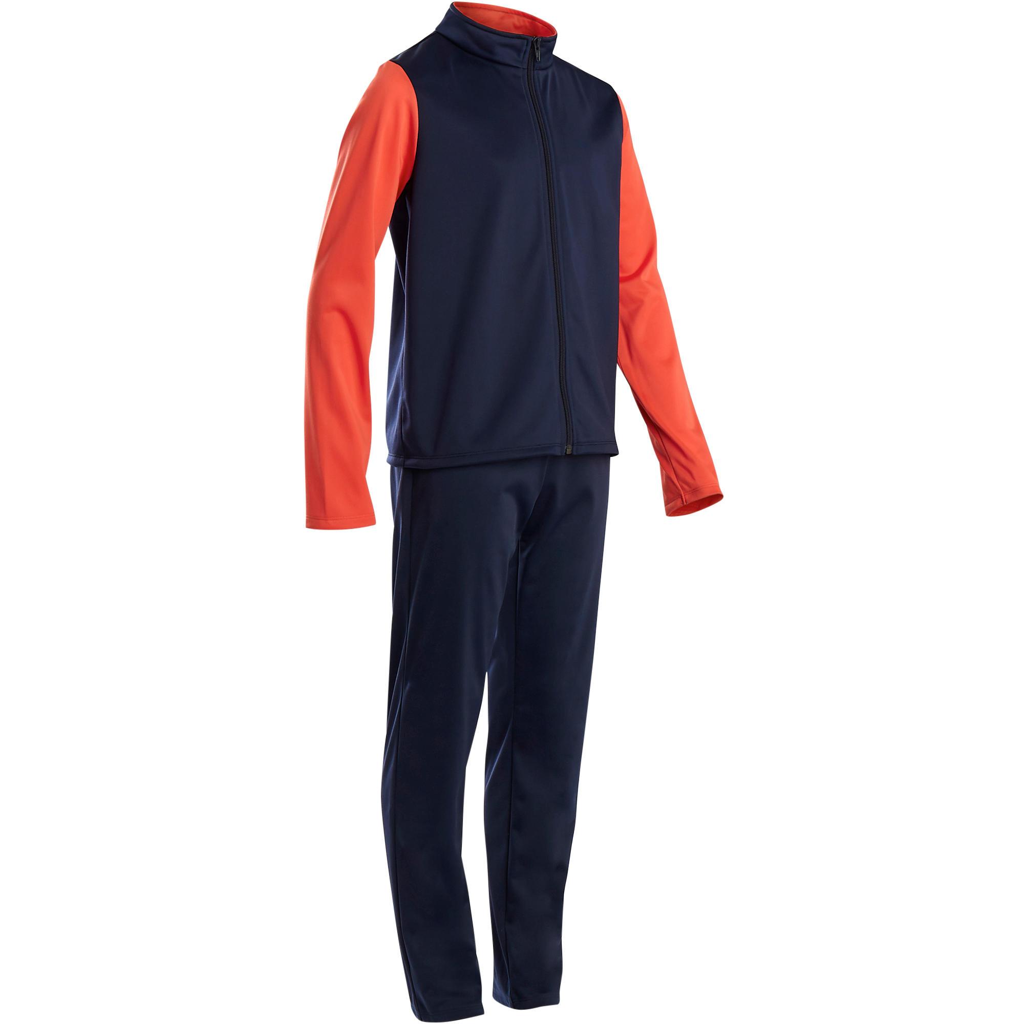 Jungen,  Kinder,  Kinder Domyos Trainingsanzug GYM'Y warm, Synthetik atmungsaktiv S500 GYM Kinder rot | 03608419129205