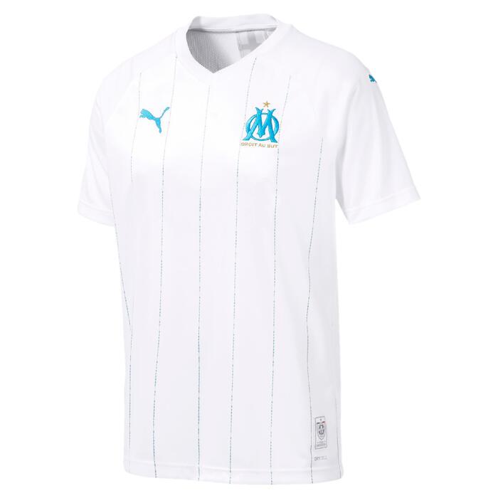 Camiseta réplica de fútbol adulto OM local blanco y azul