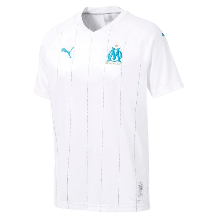 Fußballtrikot Olympique Marseille Heimtrikot Kinder weiß/blau