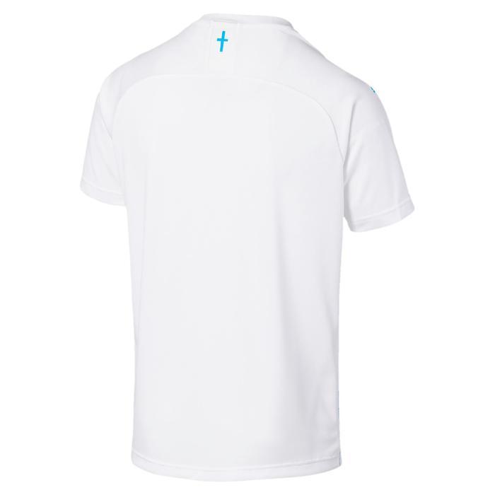 Voetbalshirt voor kinderen, replica thuisshirt Olympique Marseille wit en blauw