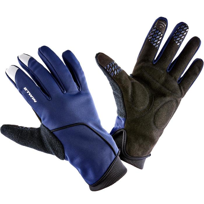 Fahrradhandschuhe kühles Wetter RC 500 blau