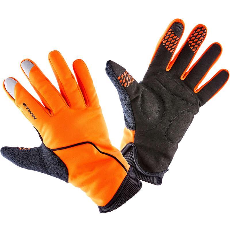 HANDSKAR FÖR LANDSVÄGSCYKEL, KALL VÄDERL Populärt - Cykelhandske Vinter 500 Orange TRIBAN - Accessoarer