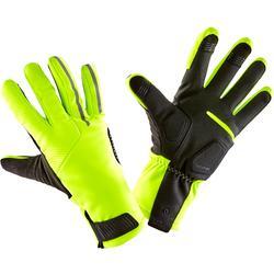 冬季自行車運動手套900 - 霓虹黃