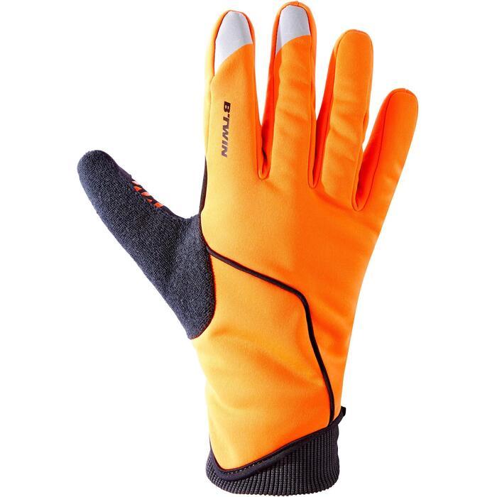 Fahrradhandschuhe kühles Wetter RC 500 orange