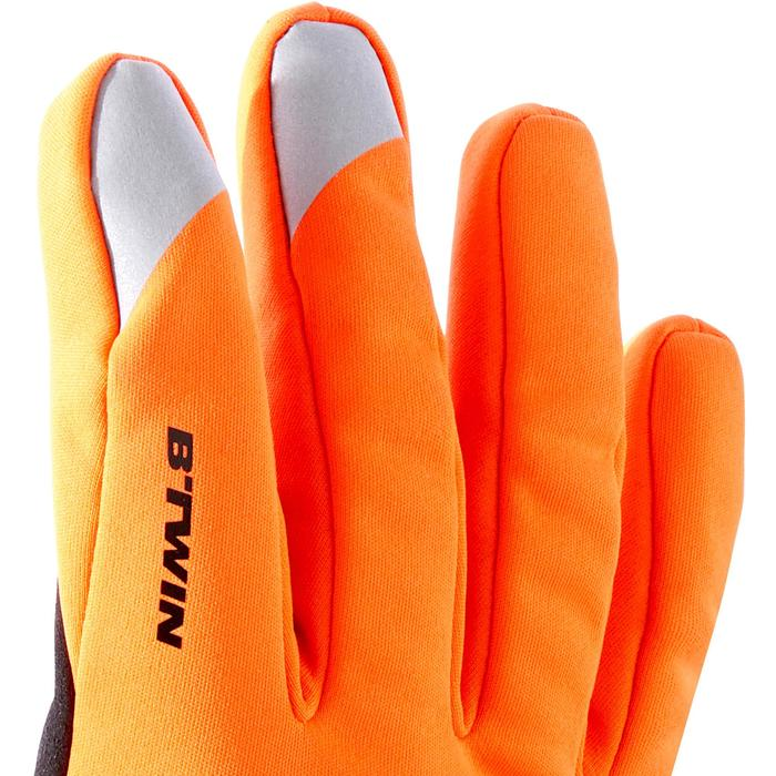 Fietshandschoenen 500 winter oranje