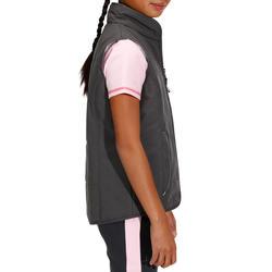 Kinder bodywarmer Accessy ruitersport koolstofgrijs - 171281