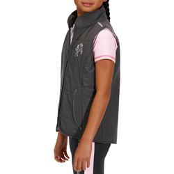 Kinder bodywarmer Accessy ruitersport koolstofgrijs - 171282
