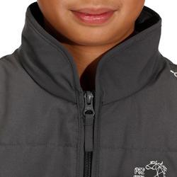 Kinder bodywarmer Accessy ruitersport koolstofgrijs - 171283